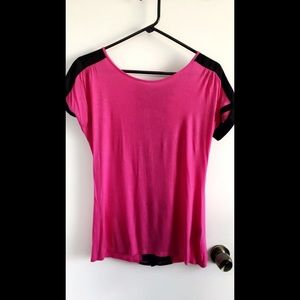 Super Nice Pink & Black Blouse with Zipper